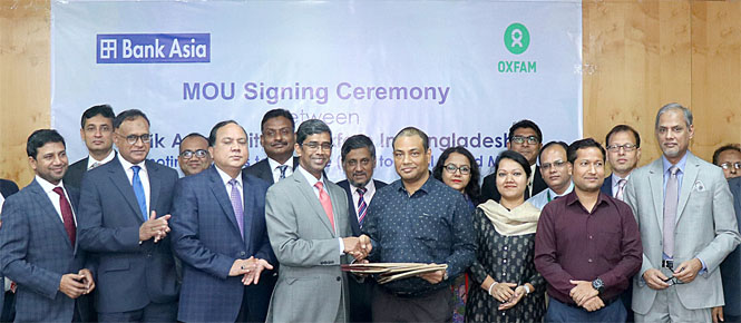 Agreement Signing Ceremony Between Bank Asia Ltd & OXFAM
