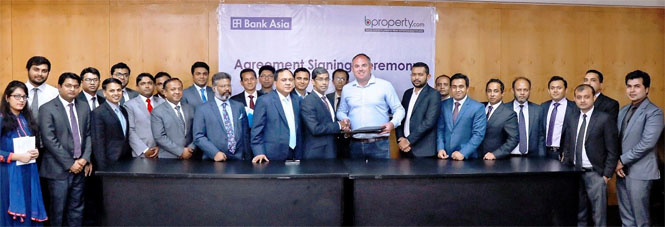 Agreement Signing Ceremony between Bank Asia Ltd. and bproperty.com