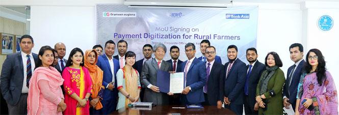 Agreement Signing Ceremony Between Bank Asia Ltd. & Grameen euglena