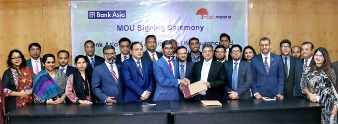 MoU signing ceremony between Bank Asia Ltd. and Guardian Life Insurance Ltd.
