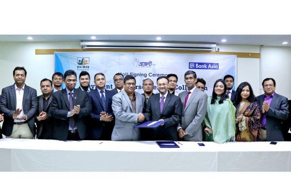MoU Signing Ceremony between Bank Asia Ltd. and BURO Bangladesh