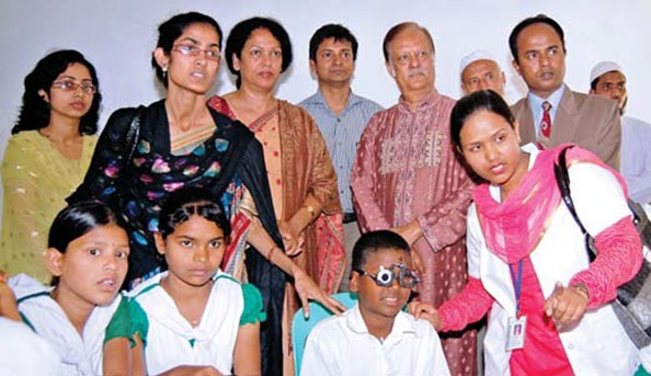 Sight screening program for school students at Kishoreganj