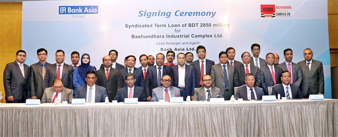 Bank Asia as Lead Arranger arranged Tk. 2,850 million for Bashundhara Industrial Complex Ltd.
