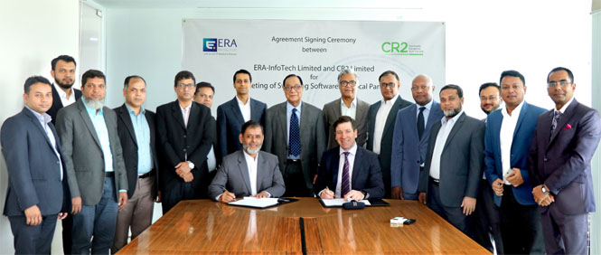 An Agreement Signing Ceremony between ERA-InfoTech Ltd and CR2 Ltd was held to provide sophisticated software services to banks on 20 April 2019