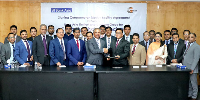 Signing Ceremony on Master Facility Agreement between Bank Asia Ltd. and Gemcon Group