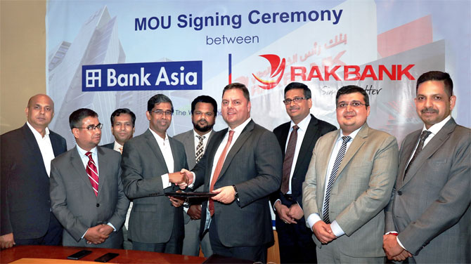 MOU Signing Ceremony between Bank Asia ltd & RAKBANK, UAE
