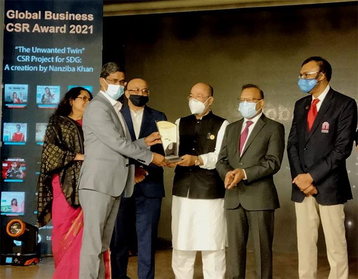 "Bank Asia President & Managing Director received ""Global Business CSR Award"""