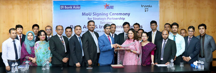 MoU signing ceremony between Bank Asia Ltd. & Truvalu.enterprises Ltd