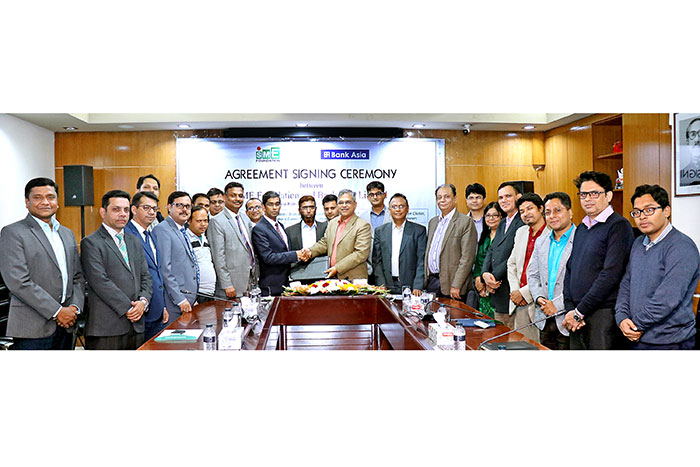Bank Asia & SME Foundation signed an agreement to develop cluster based entrepreneurs.