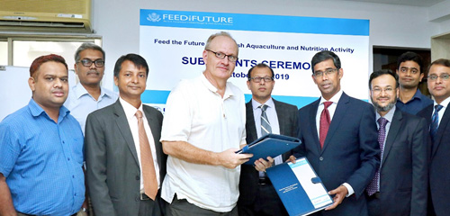 Bank Asia and WorldFish Sign an MoU on digital financial support to fish farmers