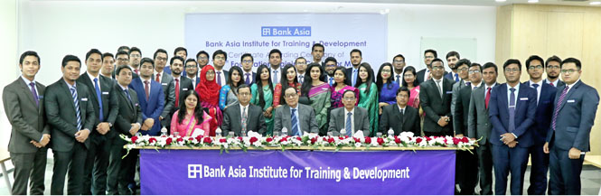 Certificate awarded to Management Trainees of 49th foundation Courses of Bank Asia Ltd.
